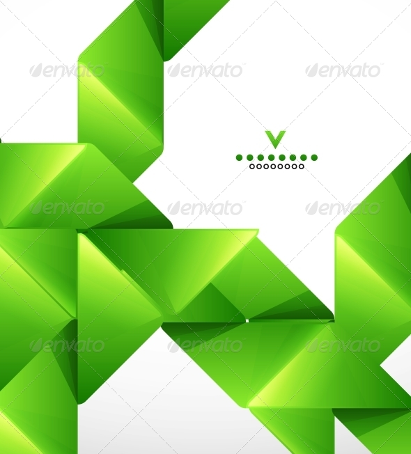 Green Paper Stripes Modern Template - Backgrounds Business