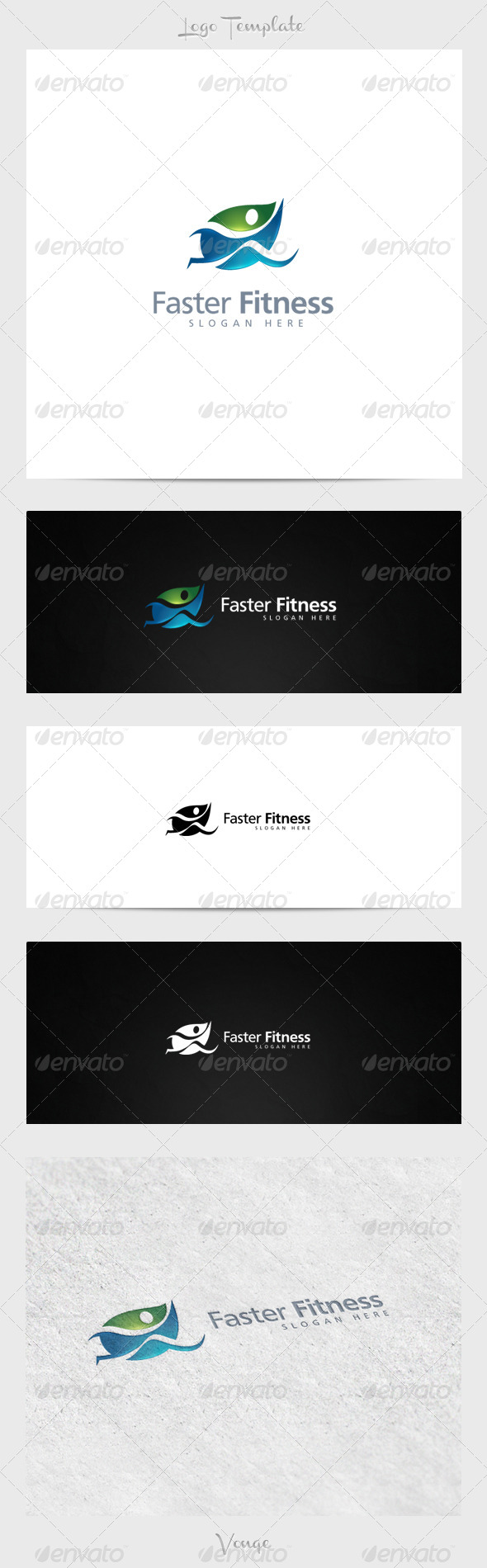 Faster Fitness - Nature Logo Templates
