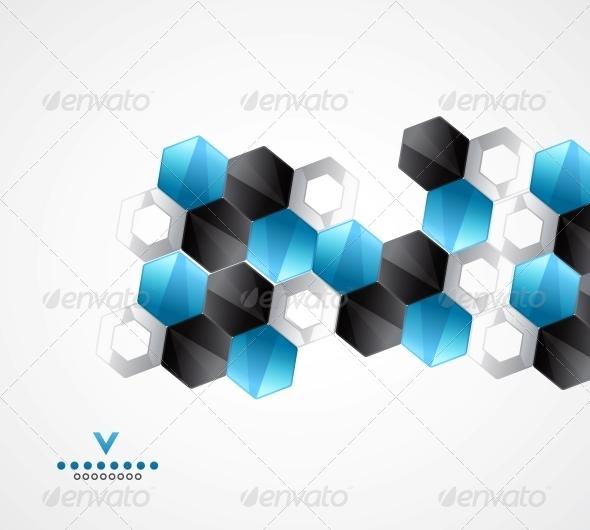 Modern Hexagons | Geometrical Design Template - Backgrounds Business