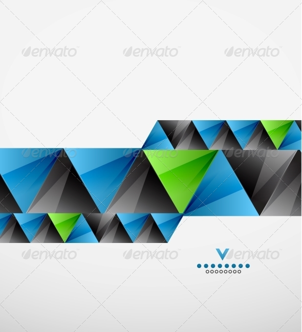Modern Geometric Triangles Background - Backgrounds Business
