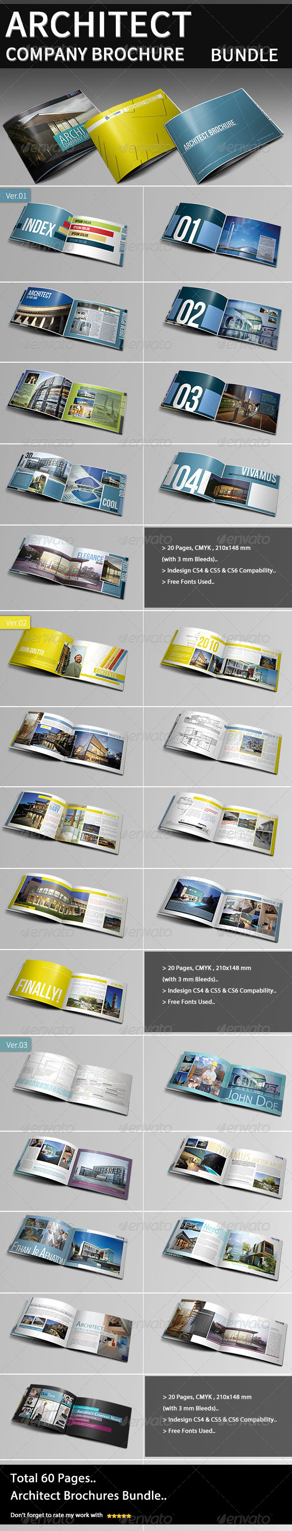 Architecture Company Brochure Bundle - Portfolio Brochures