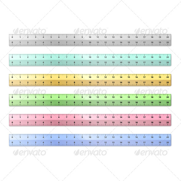 Vector Rulers - Man-made Objects Objects