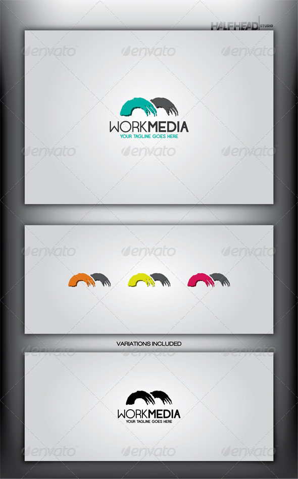 Work Media Logo Template - Letters Logo Templates