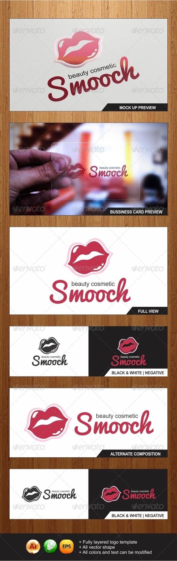 Smooch - Beauty Cosmetic logo template - Objects Logo Templates
