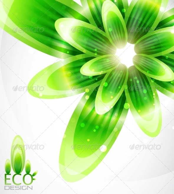 Eco Leaf Abstract Background - Backgrounds Decorative