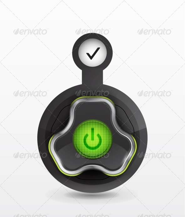Vector Power Button Icon - Web Elements Vectors