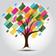 Multicolored Tree for Business card Background - GraphicRiver Item for Sale