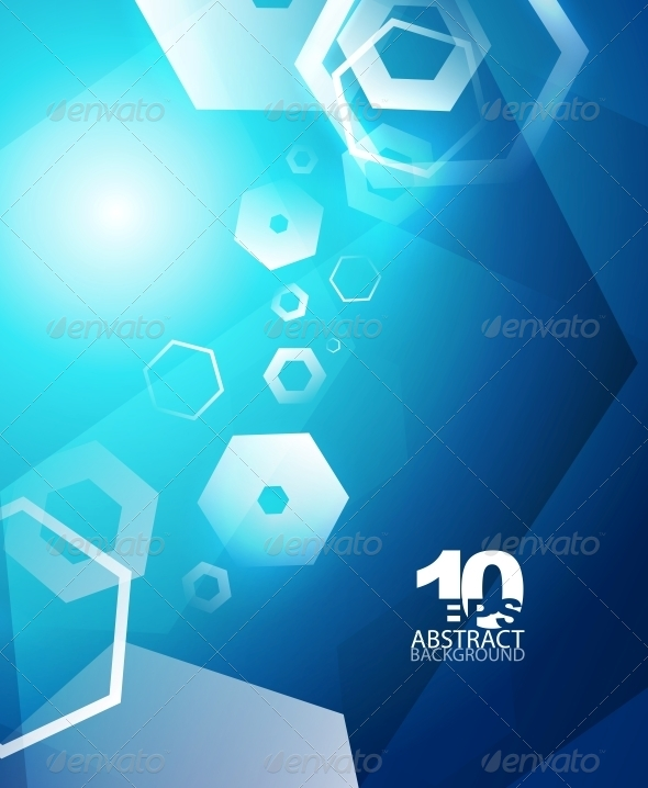 Hexagon Hi-Tech Abstract Background - Backgrounds Decorative