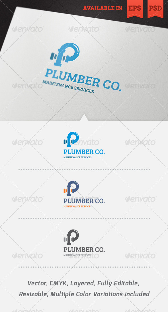 Plumber Logo Template - Objects Logo Templates