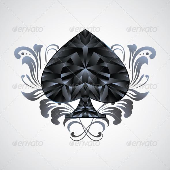 Ornament Spades - Decorative Symbols Decorative
