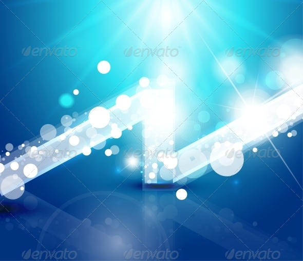 Vector Abstract Lights Background - Backgrounds Decorative