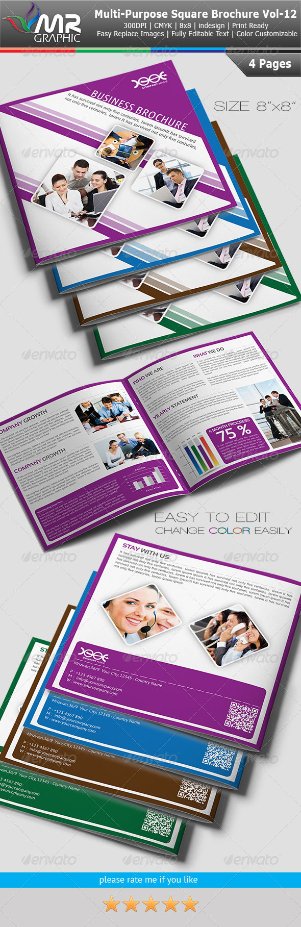 Multipurpose Square Business Brochure Vol-12 - Corporate Brochures