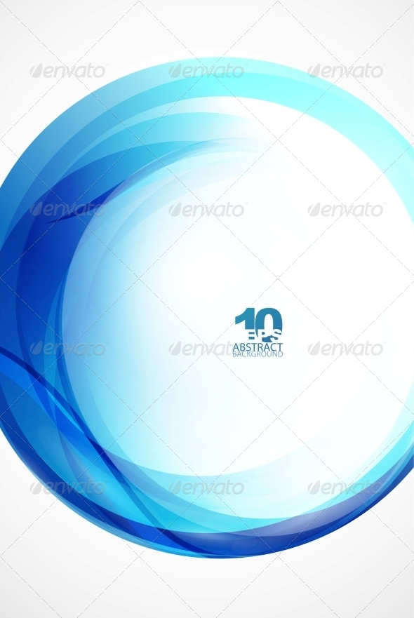 Blue Wave Sphere - Backgrounds Decorative