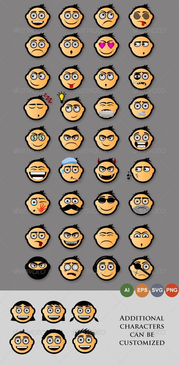 Emoticons Version 2 - People Characters
