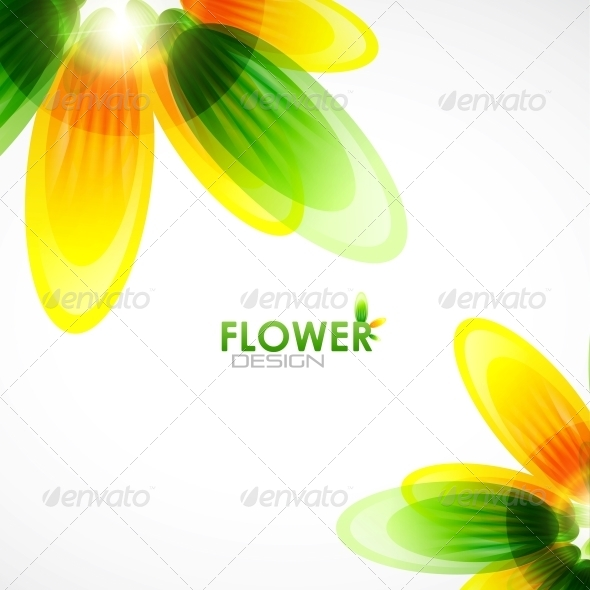 Abstract Flower Background - Backgrounds Decorative