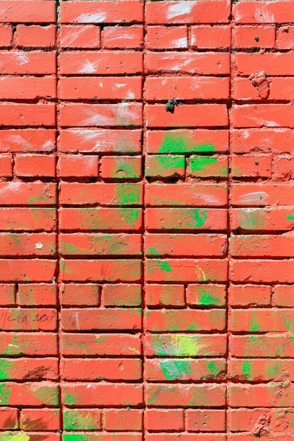 pink painted brick wall - Stone Textures
