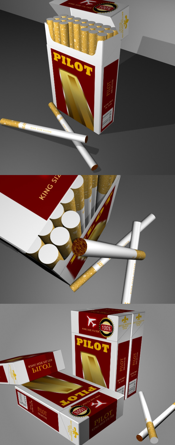 Cigarette Packaging - 3DOcean Item for Sale
