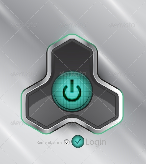 Vector Futuristic Power Button - Miscellaneous Vectors