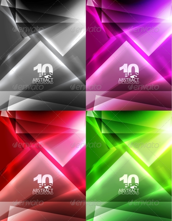 Vector Abstract Geometric Backgrounds - Backgrounds Decorative