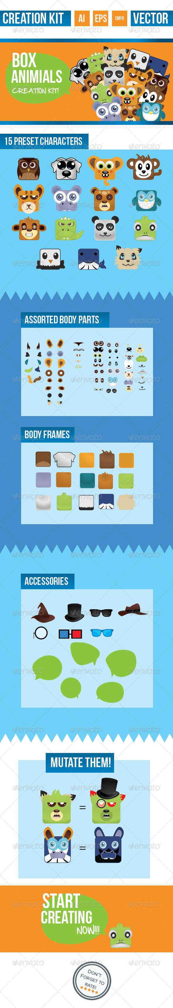 Box Animal Creation Kit - Miscellaneous Characters
