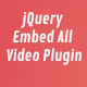 jQuery Embed All Video Plugin - CodeCanyon Item for Sale
