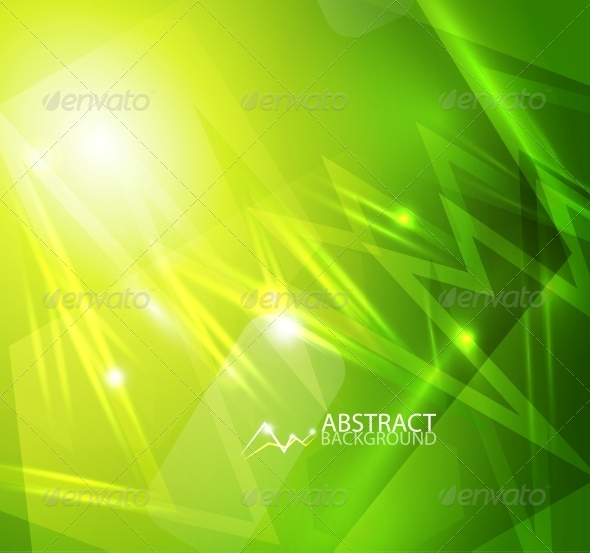Green Lightning Vector Background - Backgrounds Decorative