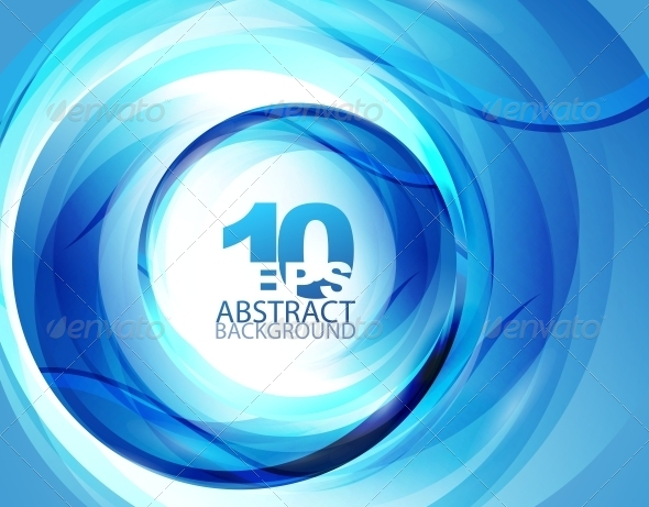 Blue Swirl Abstract Background - Backgrounds Decorative