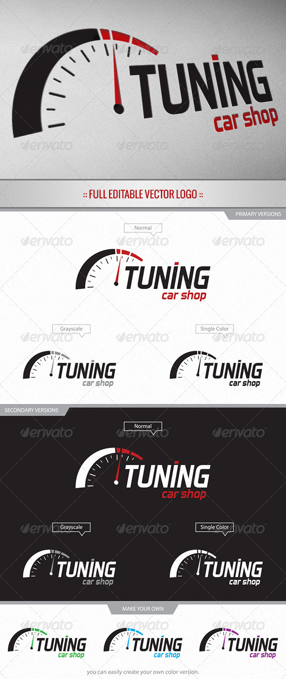 Tuning Car Shop - Logo - Objects Logo Templates