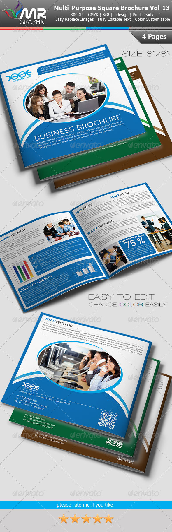 Multipurpose Square Business Brochure Vol-13 - Corporate Brochures