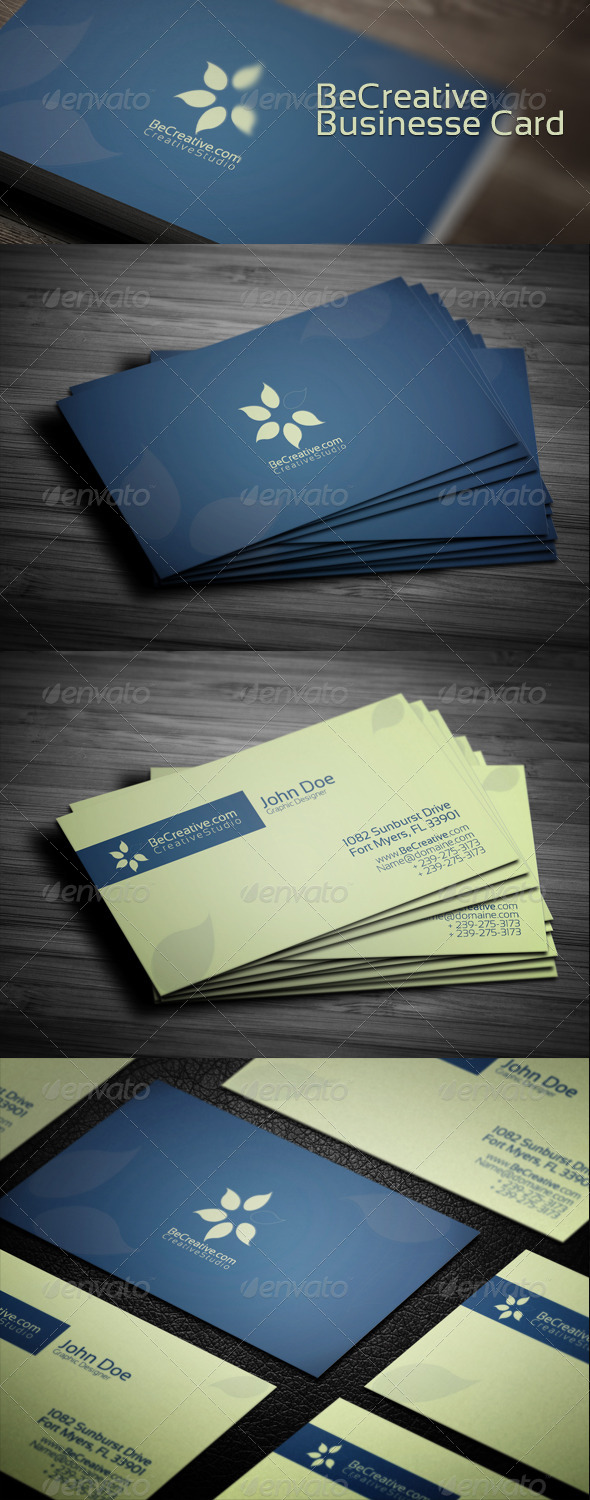 Be Creative Business Card - Creative Business Cards