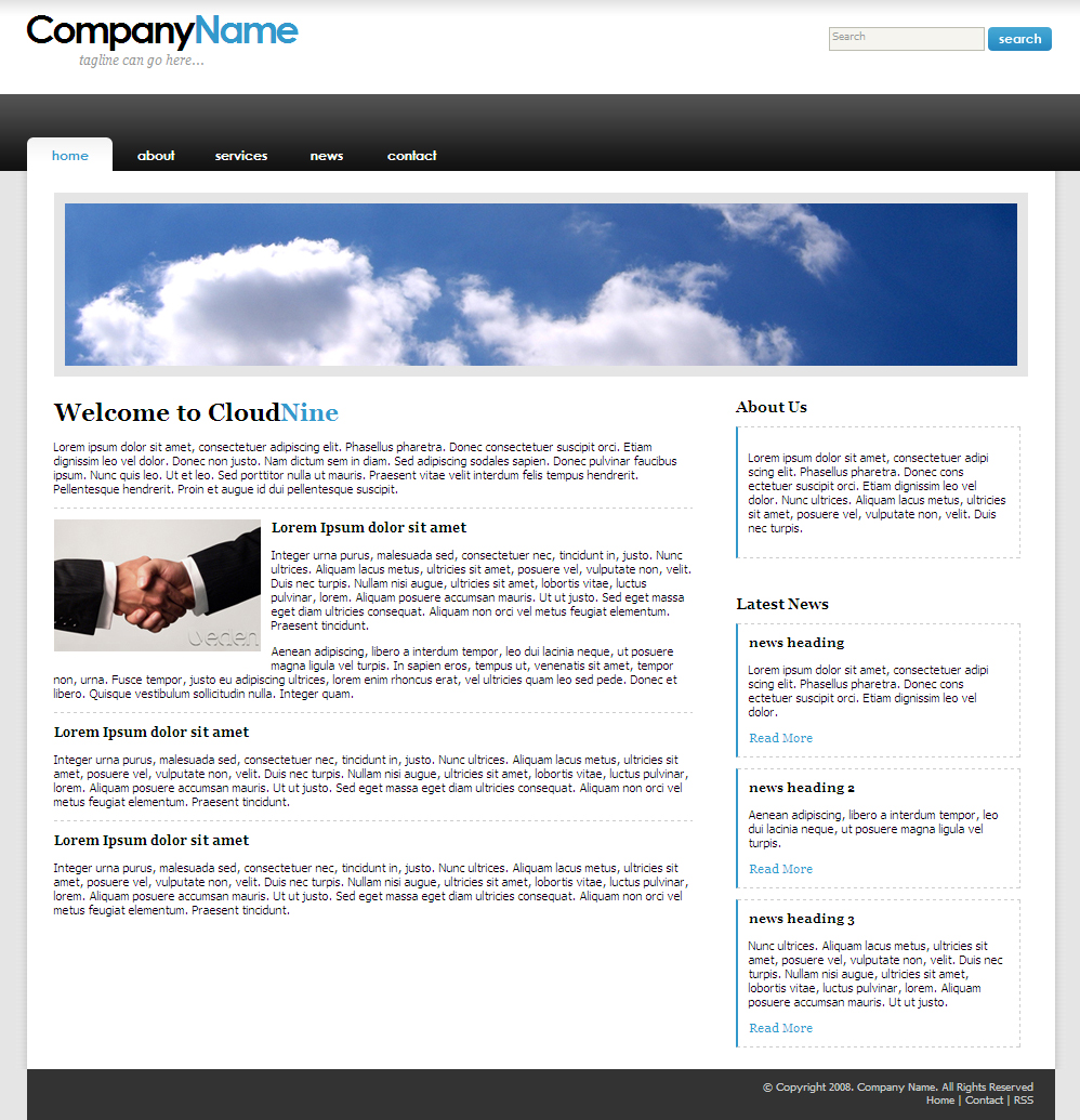 Free Download CloudNine - Fresh Corporate Nulled Latest Version