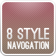 8 Style Navigation Bars - GraphicRiver Item for Sale
