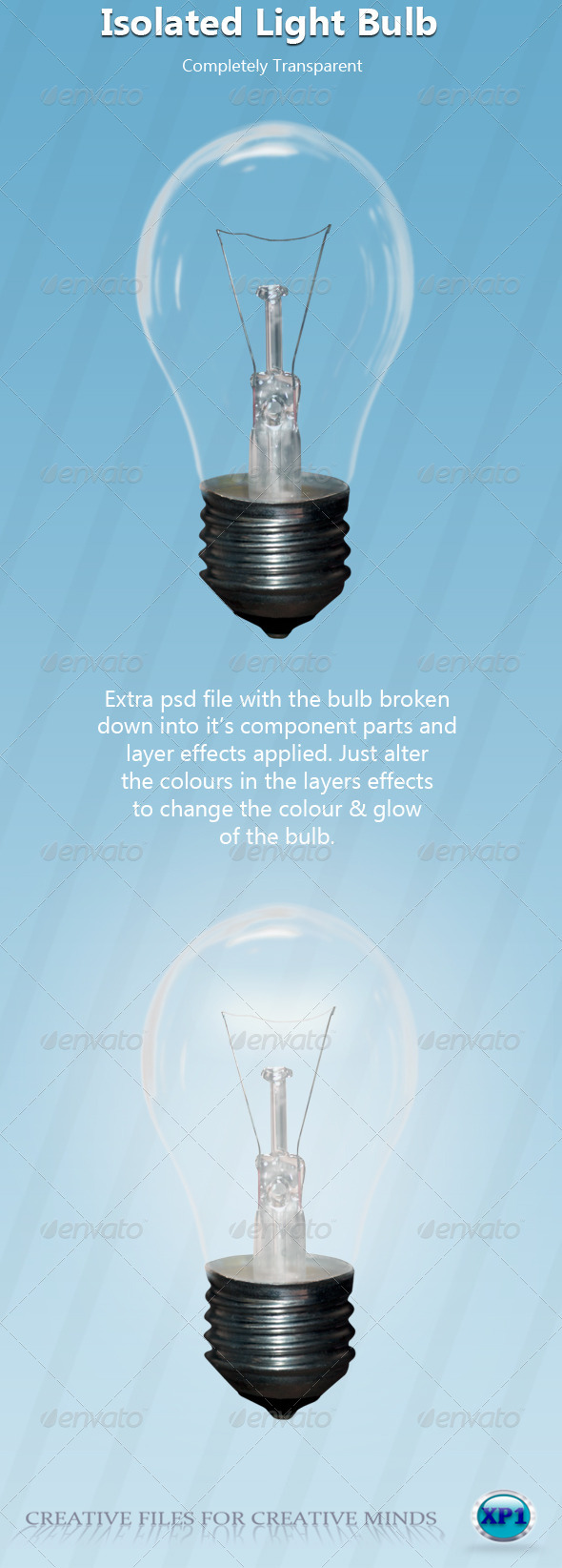 Transparent Light Bulb - Home & Office Isolated Objects