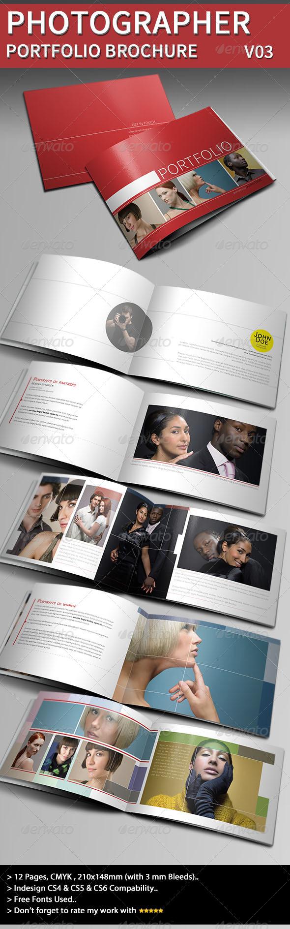 Photographer Portfolio Brochure Template III - Portfolio Brochures