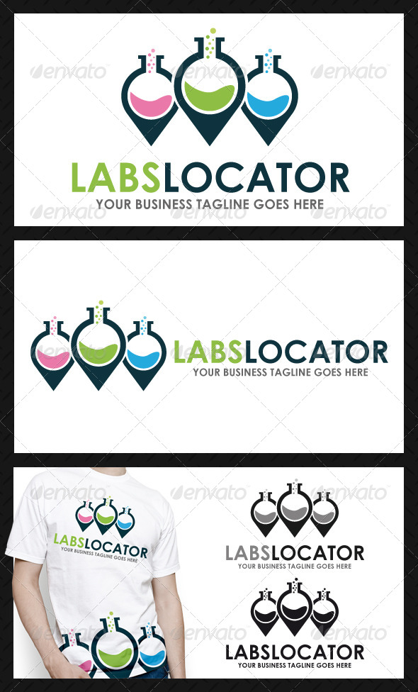Lab Locator Logo Template - Objects Logo Templates