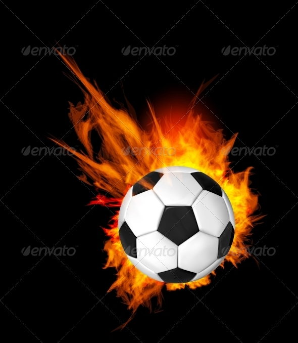 Soccer Ball on Fire - Sports/Activity Conceptual