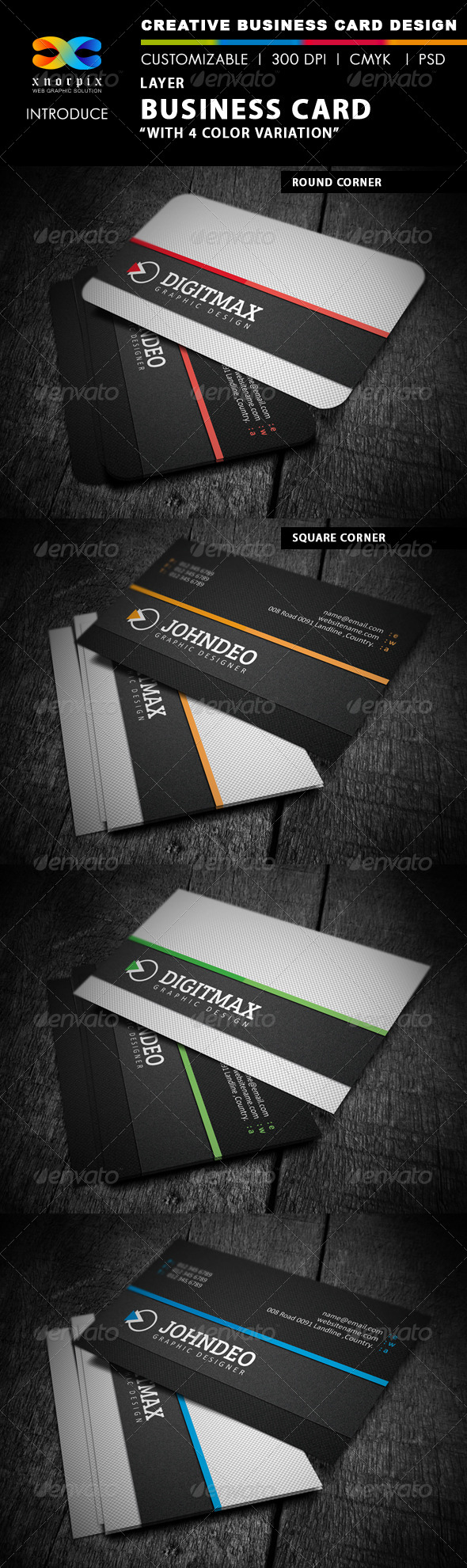 Layer Business Card - Corporate Business Cards