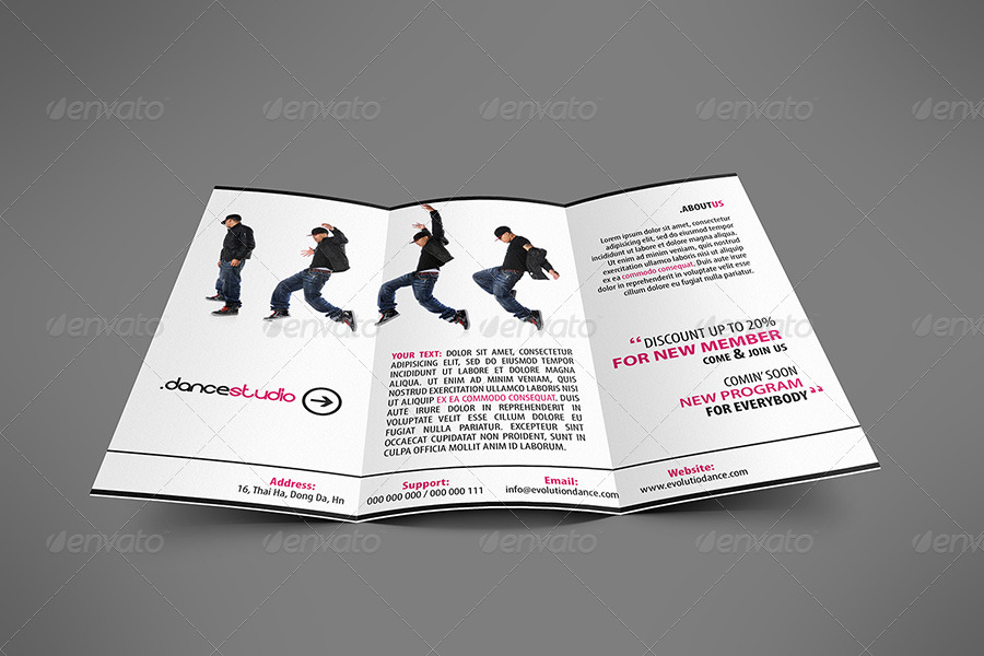 Street Art Brochure TriFold By Hoanggiang  Graphicriver