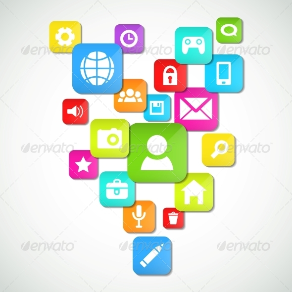 Social Media Background - Computers Technology