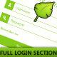 Login + Full Registration Form with Email Design - GraphicRiver Item for Sale