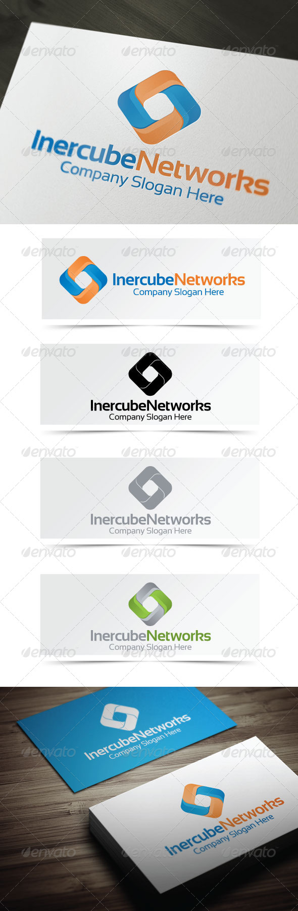 Inercube Networks - Abstract Logo Templates
