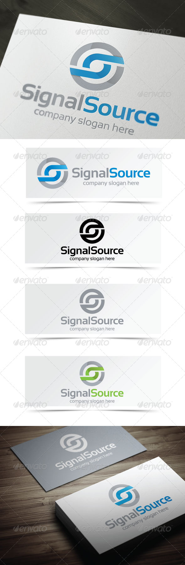 Signal Source - Letters Logo Templates