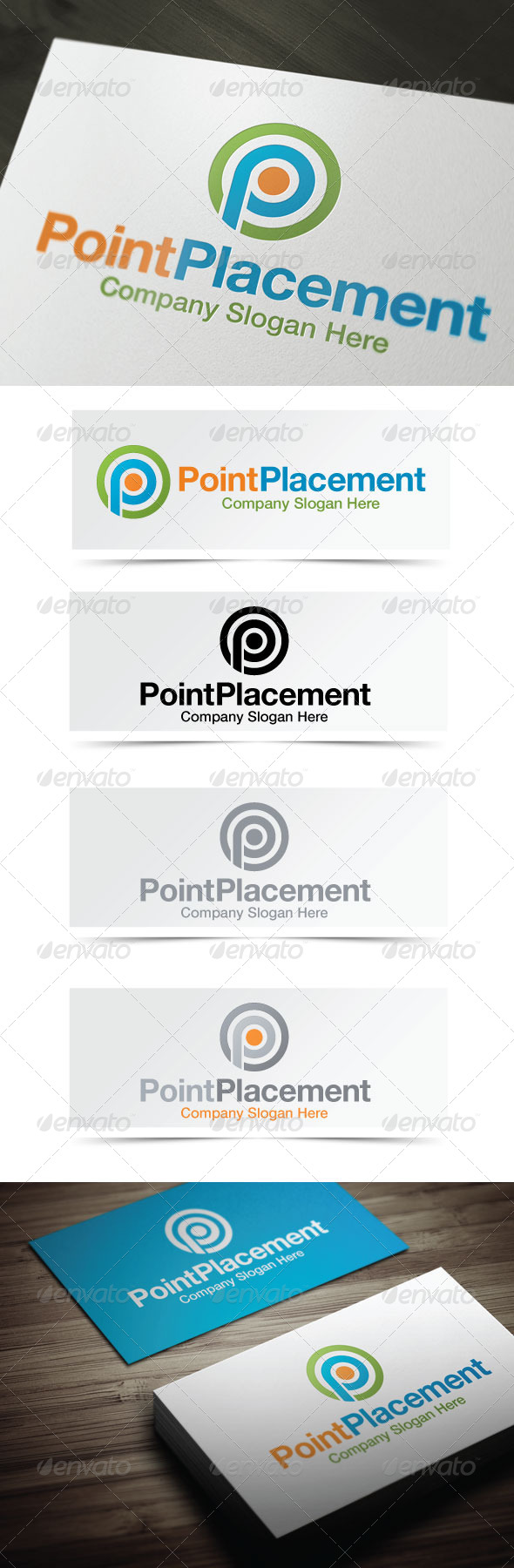 Point Placement - Letters Logo Templates