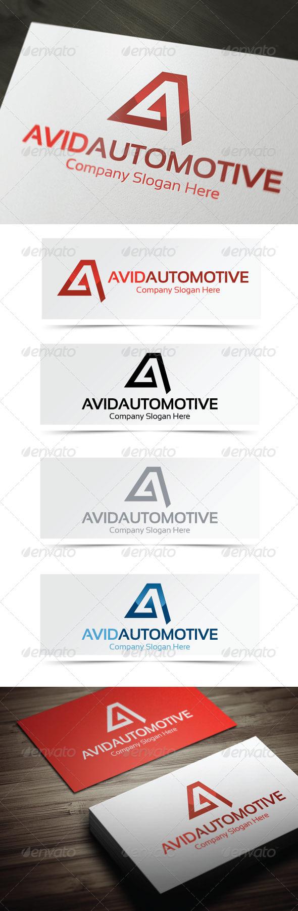 Avid Automotive - Letters Logo Templates