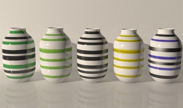 Kahler Omaggio Design Vases - 3DOcean Item for Sale