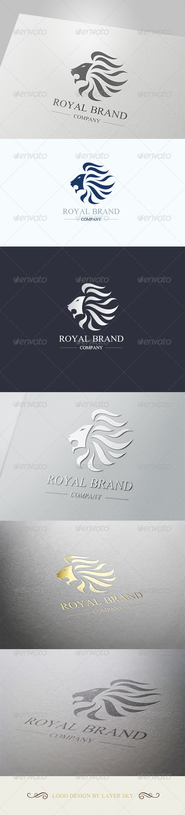 Lion Royal Brand Logo 1 - Crests Logo Templates