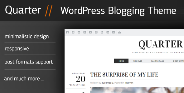 Quarter – Responsive WordPress Blogging Theme
