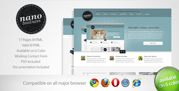 Free Download Nano - Corporate Business Template 5 Nulled Latest Version