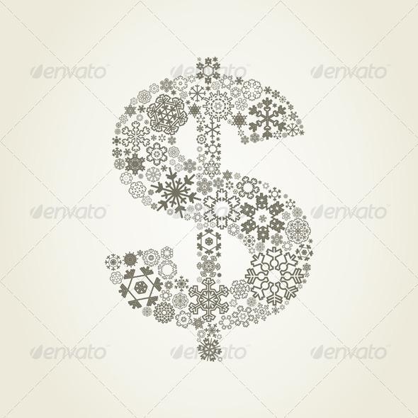 Snowflake Dollar - Christmas Seasons/Holidays