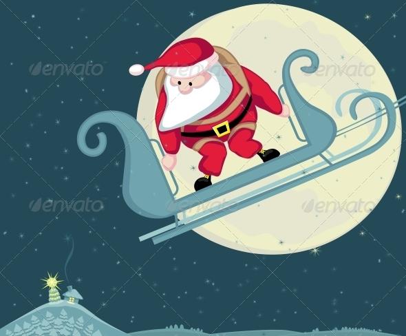 Santa Skydiving - People Characters